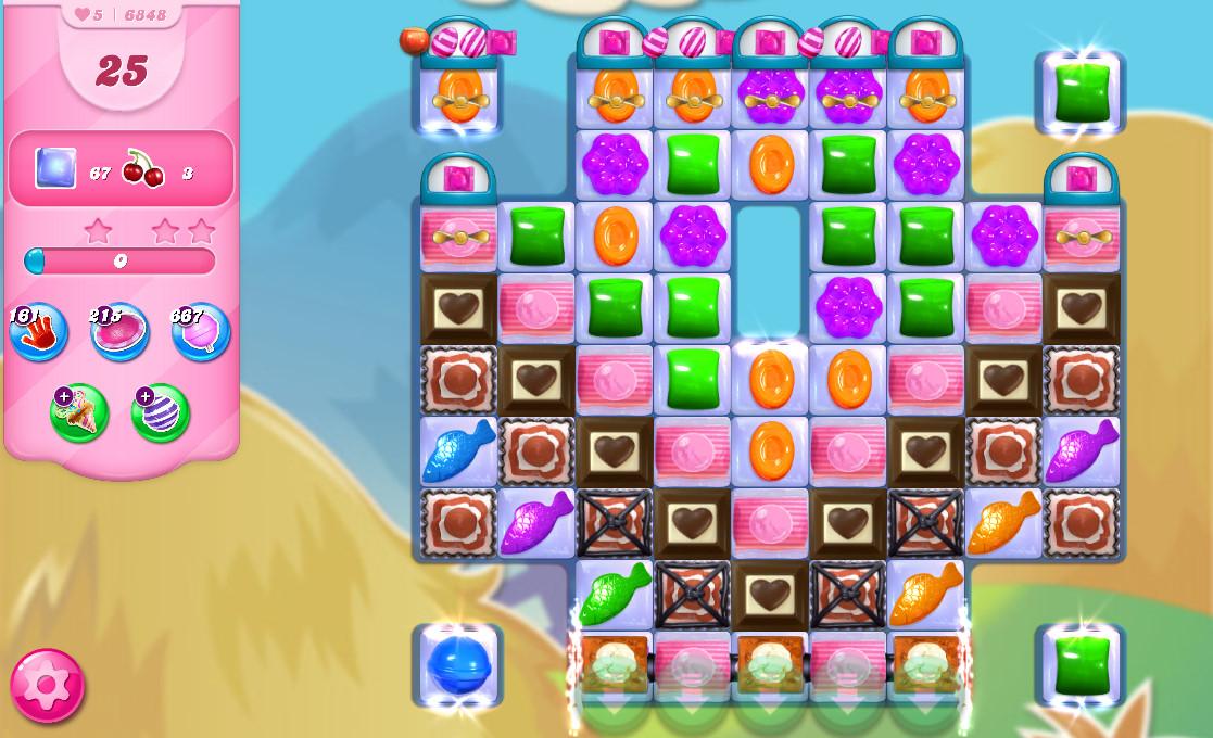 Candy Crush Saga level 6848