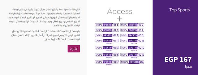 اسعار اشتراك قنوات بي ان سبورت 2018 لجميع الدول العربية - Bein Sports