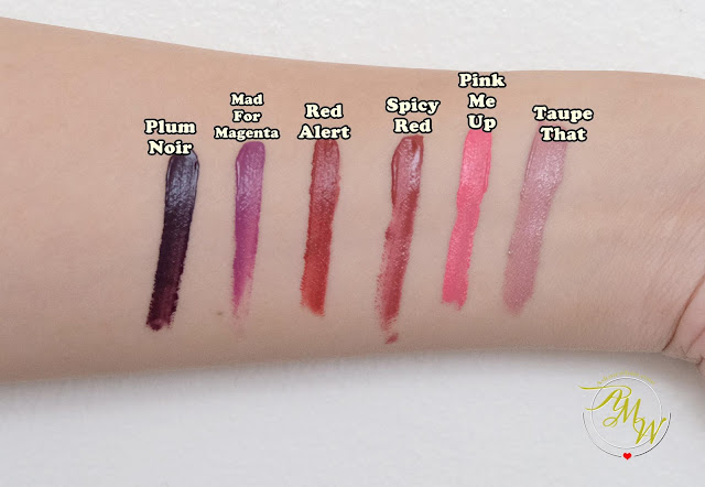 a swatch photo of Mary Kay At Play Matte Liquid Lip Colors Review by  Nikki Tiu of askmewhats.com