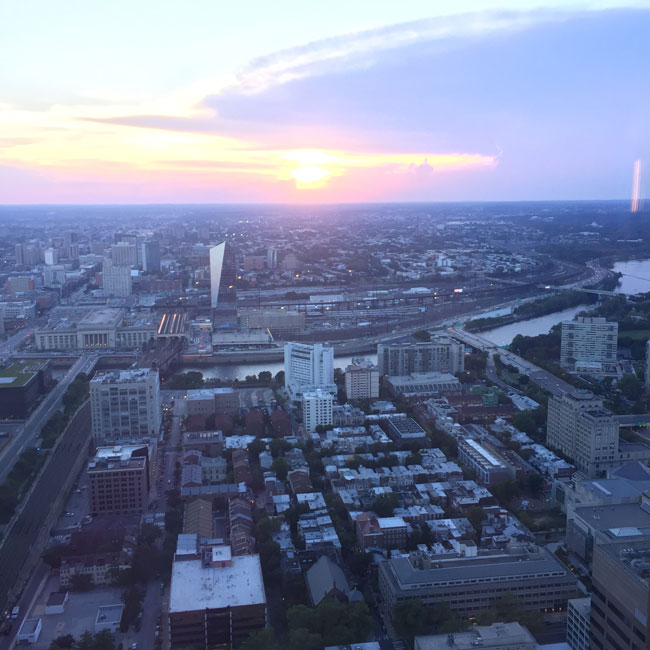 sunset_top_of_the_tower_philadelphia_wedding_venue