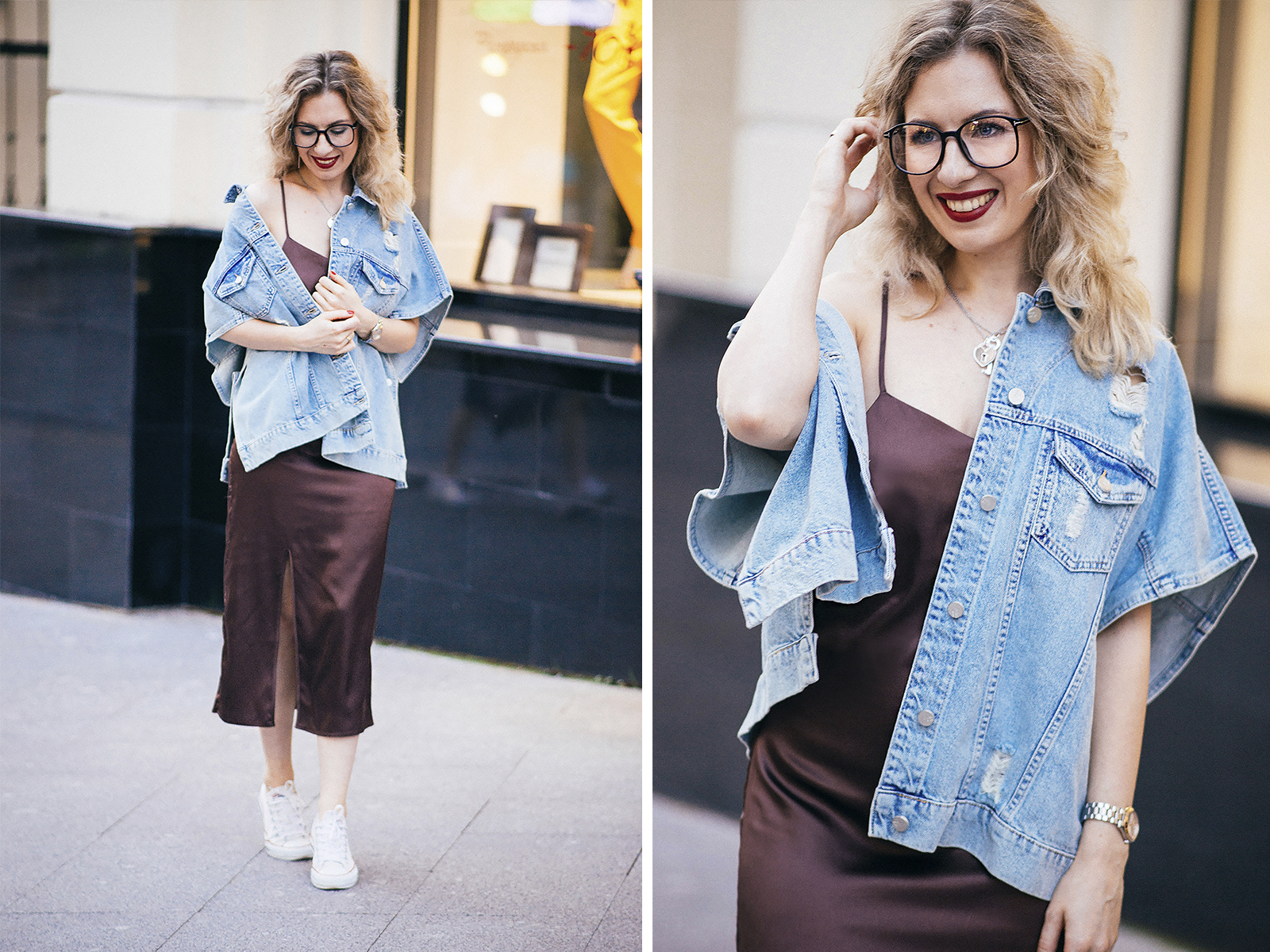 rita_maslova_fashion_blogger_ritalifestyle_denim_jacket_underwear_dress_glasses_red_lips_4