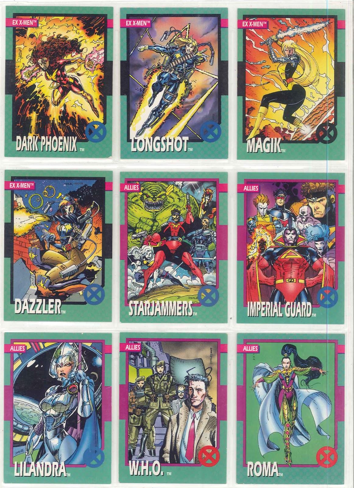 The Dork Review Jim Lees 1992 XMen Trading Card Set