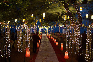Lighting decor for beach wedding kerala