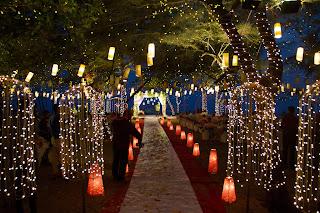 Lighting decor for beach wedding kerala