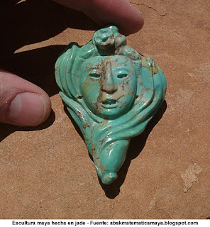 Escultura de Jade hecha por Mayas