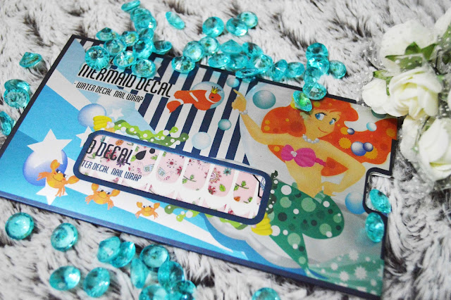 mermaid decal water decal nail wrap