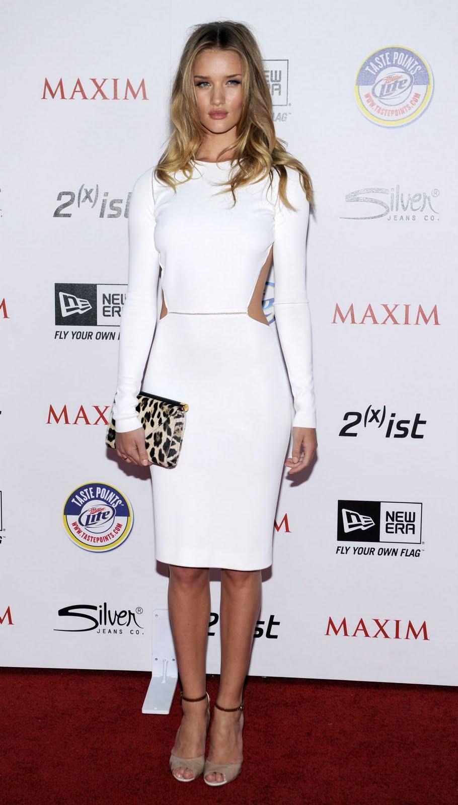 Pastel Blonde Rosie Huntington Whiteley S Red Carpet Style