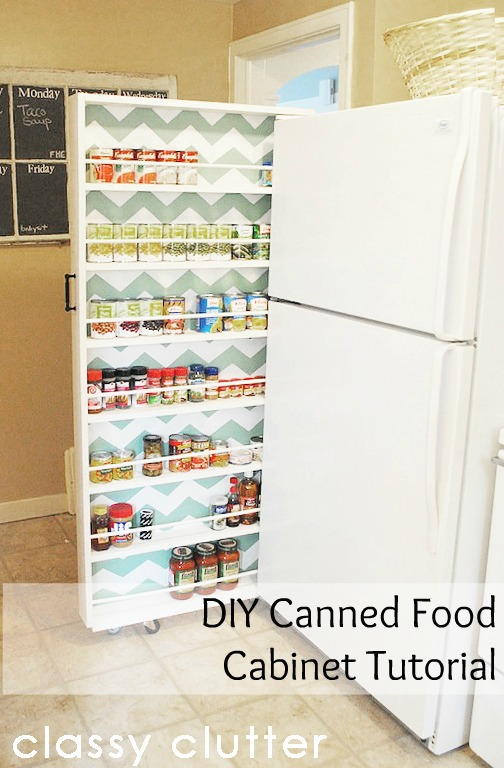 DIY Sliding Cabinet For Canned Food | Creative Canned Food Storage Ideas