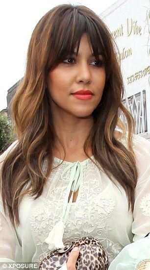 See more A new summery do': Kourtney Kardashian debuted a longer and more auburn-coloured hairstyle on Thursday, left. She was seen just last week on the right with shorter hair     http://www.womensandmenshairstyle.net/
