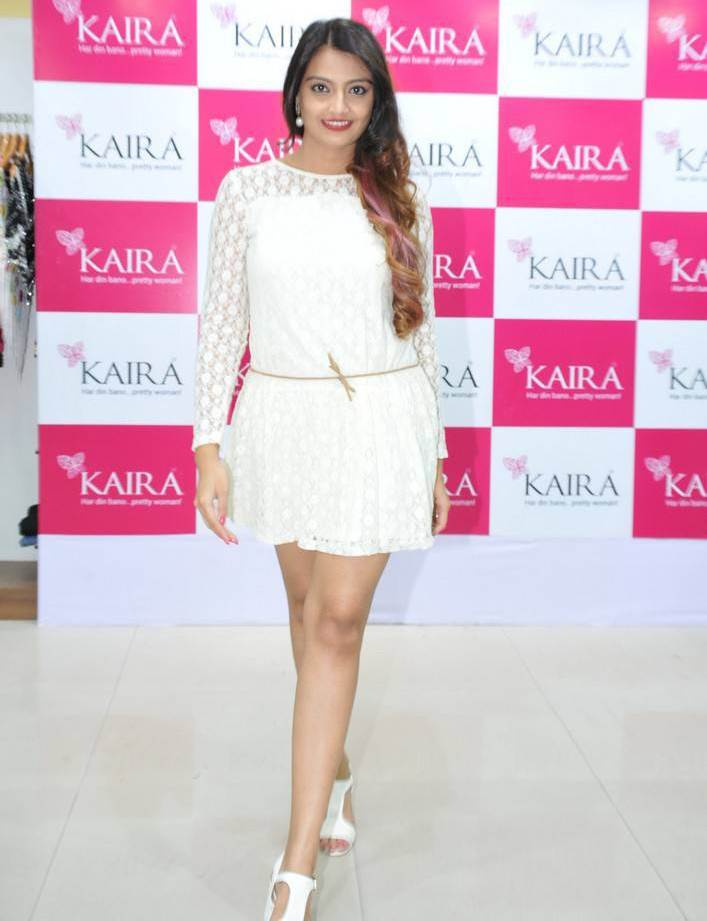 Nikitha Narayan At Kaira Ugadi Festive Collection Launch In White Dress