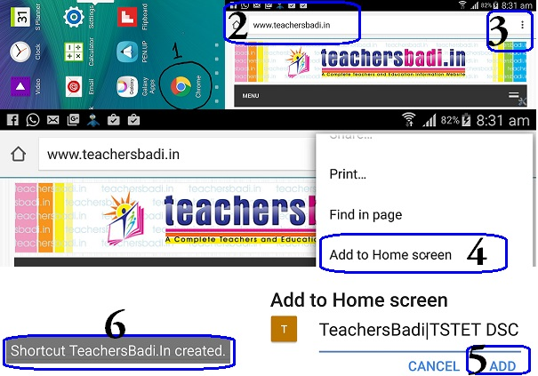 TeachersBadi.In Website,Home Screen,Your Smartphone