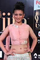 Akshara Haasan in Peachy Crop Top Choli Skirt at IIFA Utsavam Awards 19.JPG