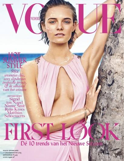 Nimue Smit covers Vogue Netherlands July/August 2015