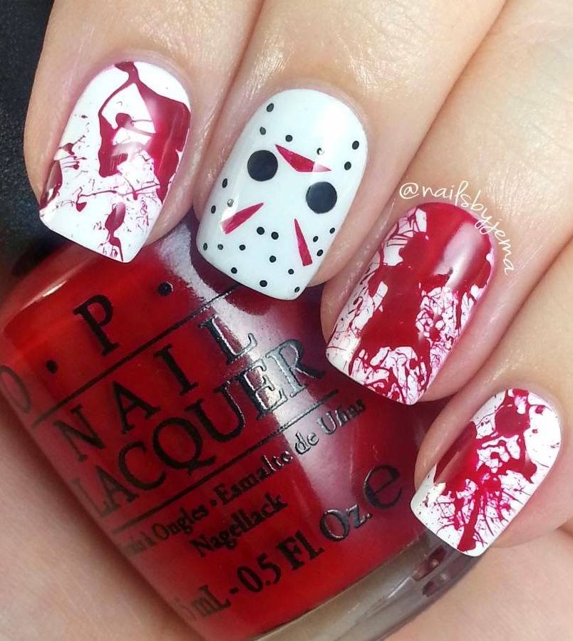 IDEA FOR HALLOWEEN NAIL ART TO SCARE YOUR FRIENDS