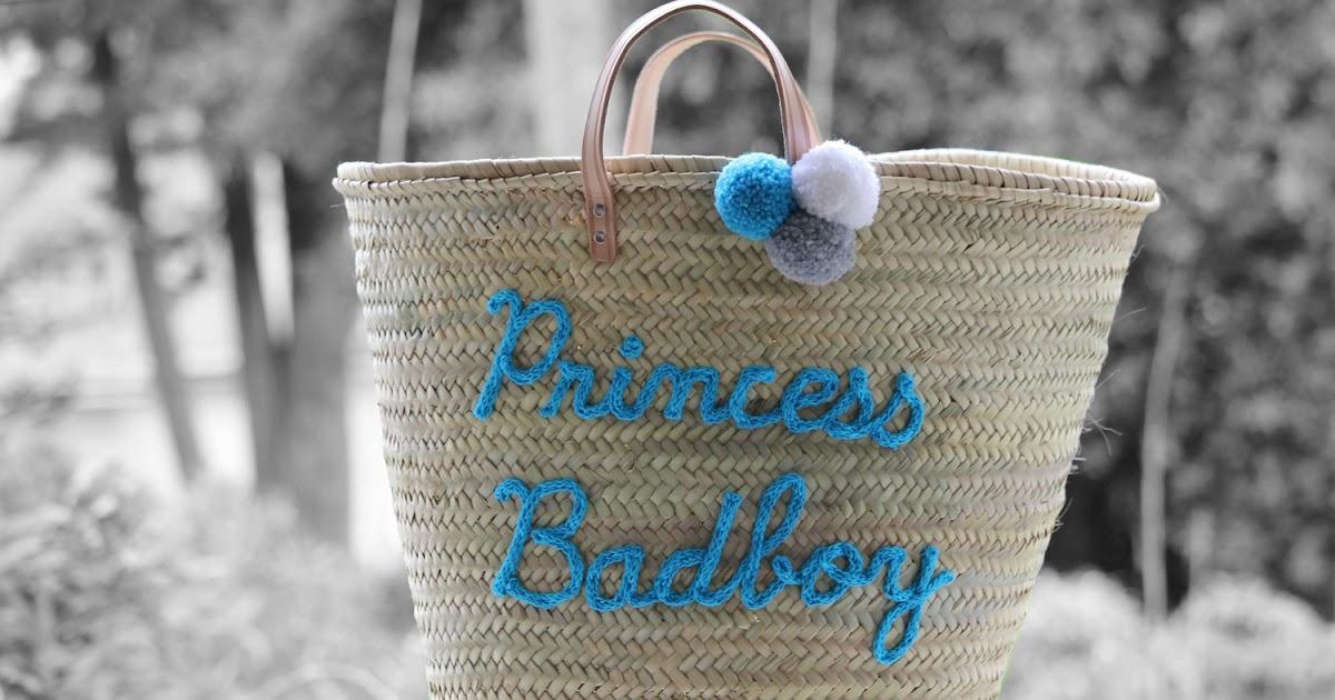 l 39 atelier des petites bauloises cabas de plage princess badboy. Black Bedroom Furniture Sets. Home Design Ideas