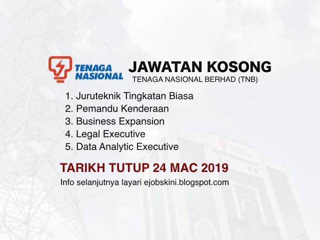 Jawatan Kosong Kerani Di Tenaga Nasional Berhad Tnb Kelayakan Spm Spmv Ejawatankini Com