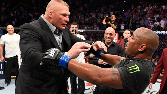Daniel Cormier, Brock Lesnar Have Explosive Moment At UFC 226, Title Fight On Horizon