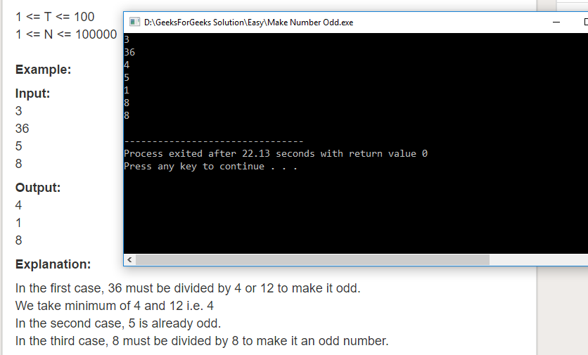 "Geeksforgeeks Solution For "" Make Number Odd """