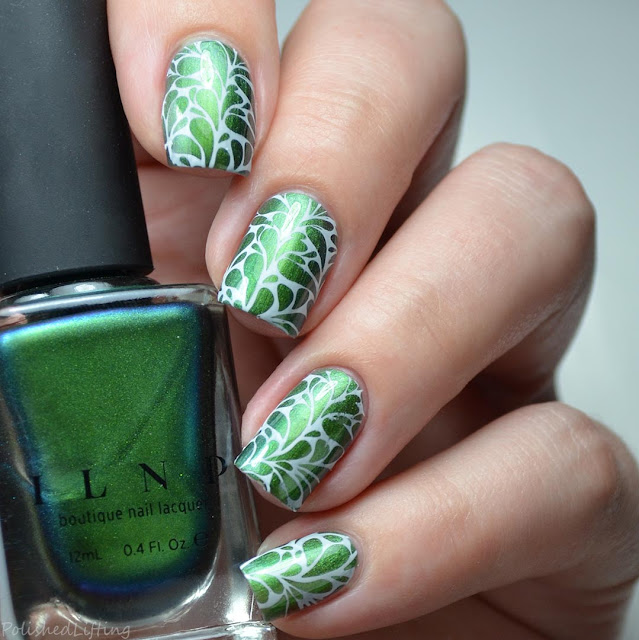 teardrop nail art with multichrome nail polish