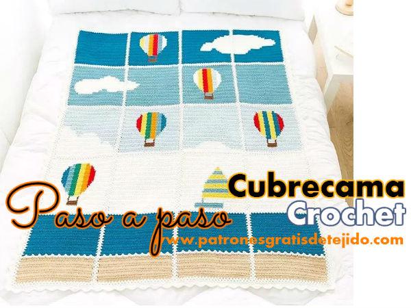 cubrecama-crochet