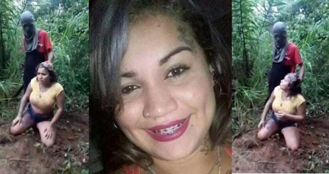 Vídeo mostra jovem desaparecida sendo decapitada a golpes de terçado; Débora havia deixado facção