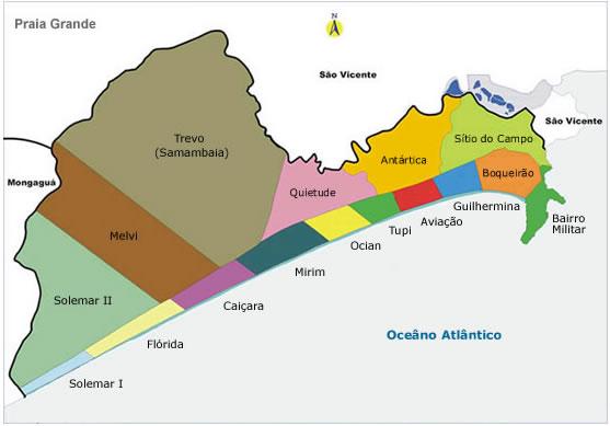 praia grande mapa Blog Caiçara ::.. Turismo Consciente Baixada Santista / Turismo  praia grande mapa
