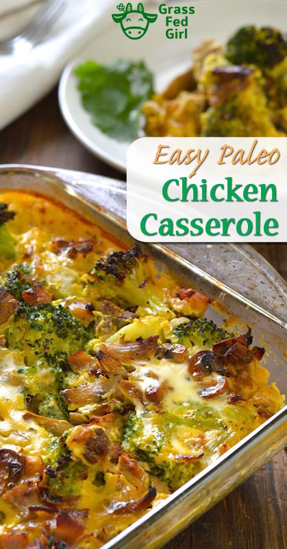 Easy keto and Low Carb Chicken Broccoli Casserole (Paleo and Gluten Free)