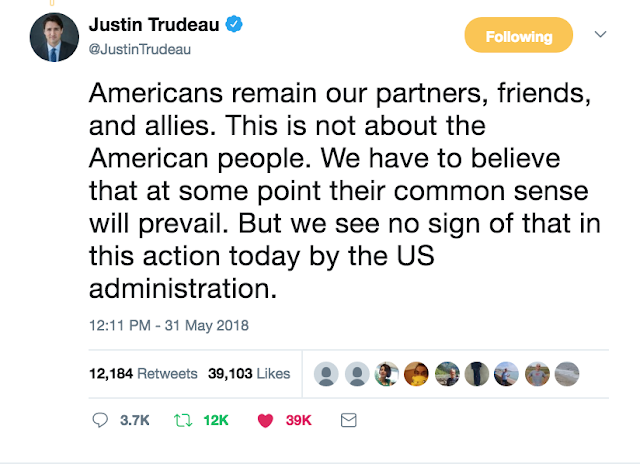 G7 Summit @JustinTrudeau Americans remain our partners, friends, and allies.