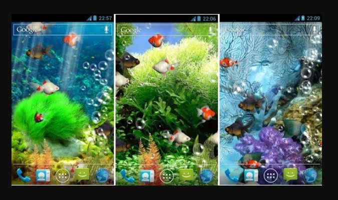 Widget Live Wallpaper - Aquarium Live Wallpaper