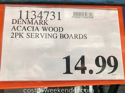 Denmark Acacia Serving Boards 2 Piece Set Costco Weekender