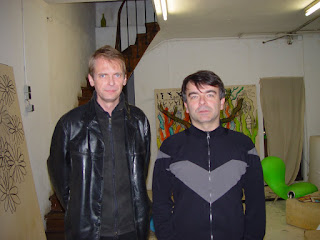 Klaus Guingand and Fabrice Hyber -  2004 - Paris - France. At, Fabrice Hyber