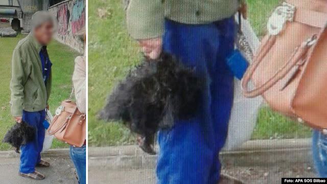 Imagen del varón con la cabeza de perro