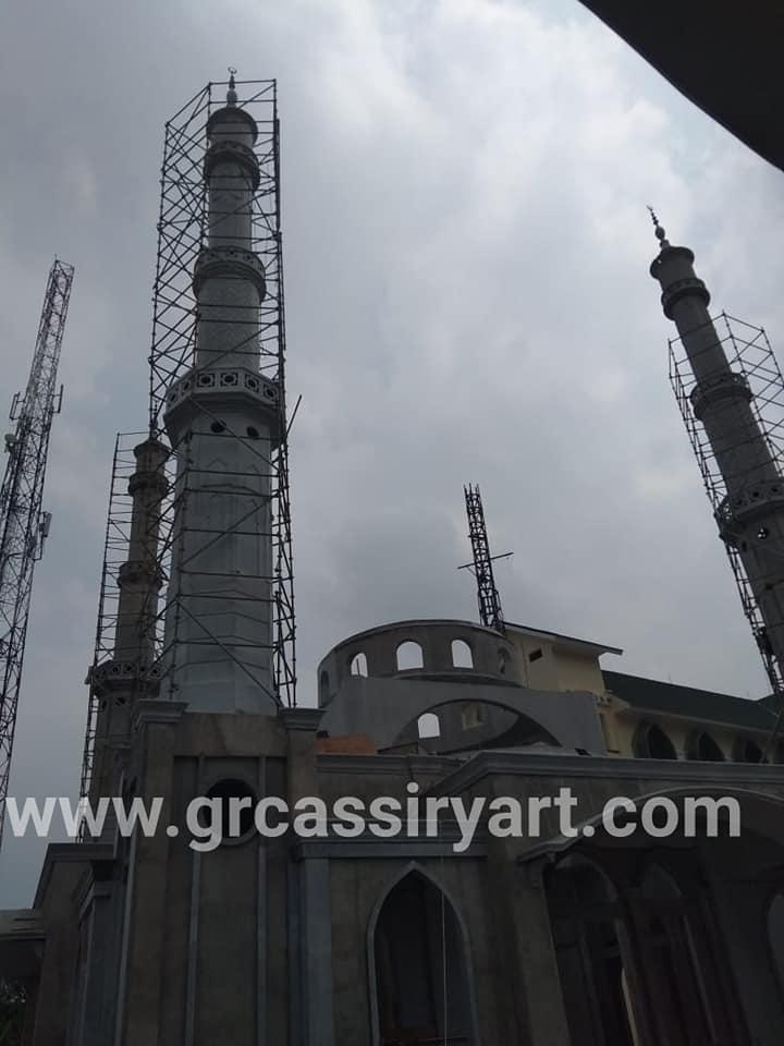 Menara Grc Masjid Labuan Banten Assiry Art Assiry Kubah Menara Grc