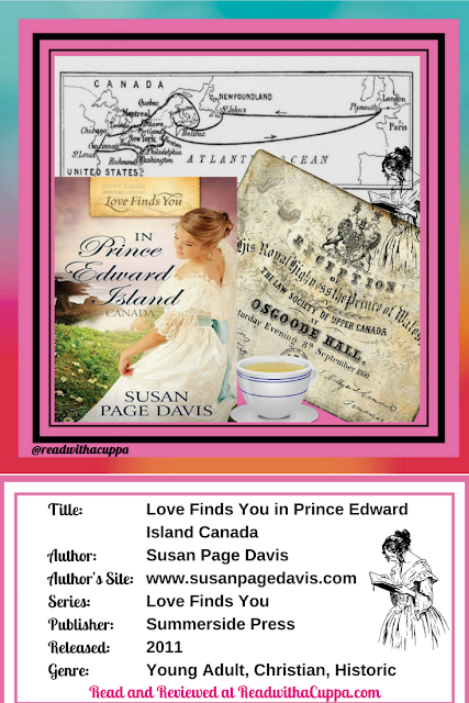 Check out the book review for Love Finds You in Prince Edward Island Canada by Susan Page Davis at https://www.readwithacuppa.com/2018/07/book-review-love-finds-you-susan-page-davis.html