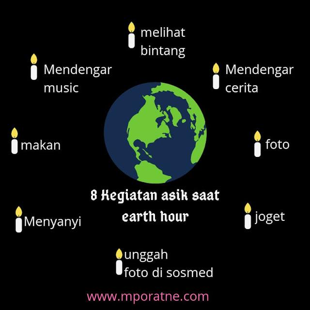 Kegiatan asik saat Earth Hour