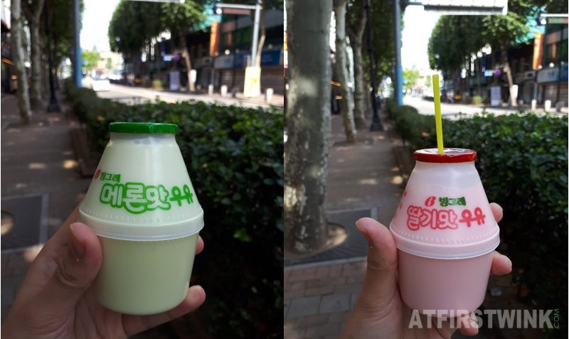 korean banana milk flavors melon and strawberry