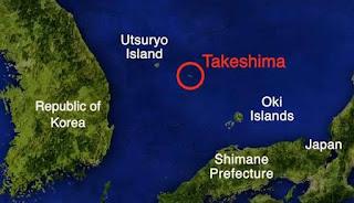 Dokdo islets, called Takeshima in Japan