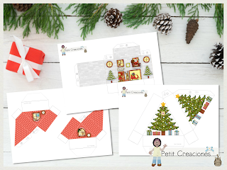 Printable Christmas Village ADVENT CALENDAR, Christmas craft ideas, Christmas decoration, template DIY