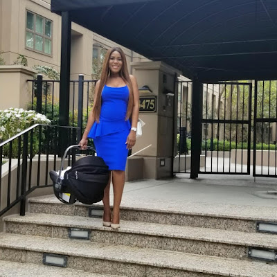 Linda Ikeji shows off post baby bod