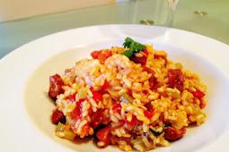 Chorizo & Prawn Risotto