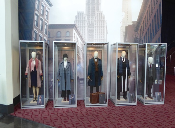 Fantastic Beasts Where to Find Them movie costume exhibit