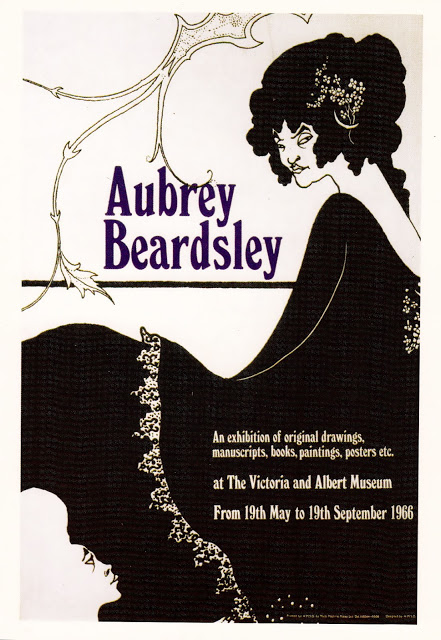 Aubrey Beardsley exhibition poster 1966