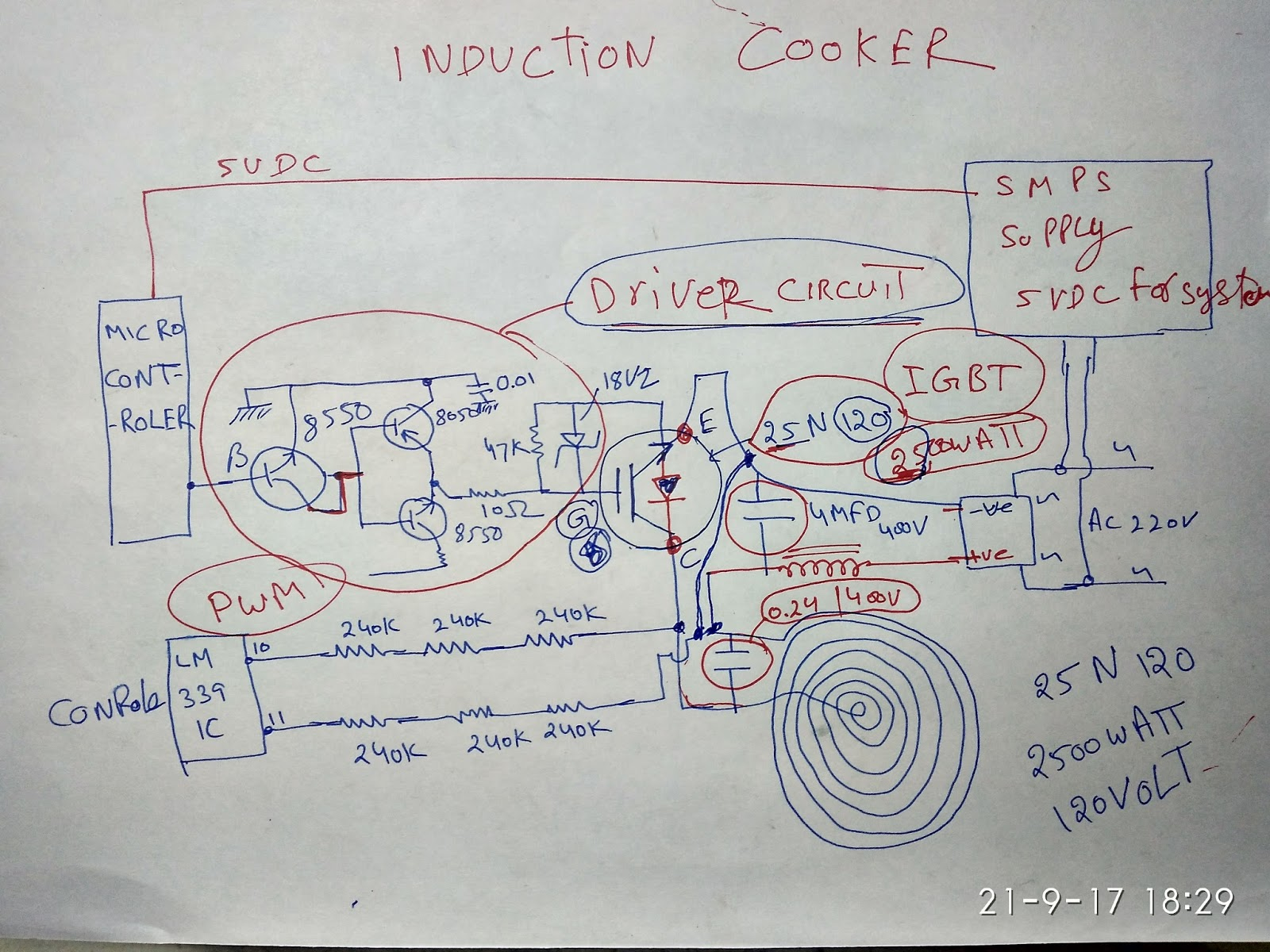 Induction Heater Circuit Diagram Pdf Trusted Wiring Diagrams The Cooker 2mapaorg Prestige Diy Enthusiasts Thermal Welding Coil