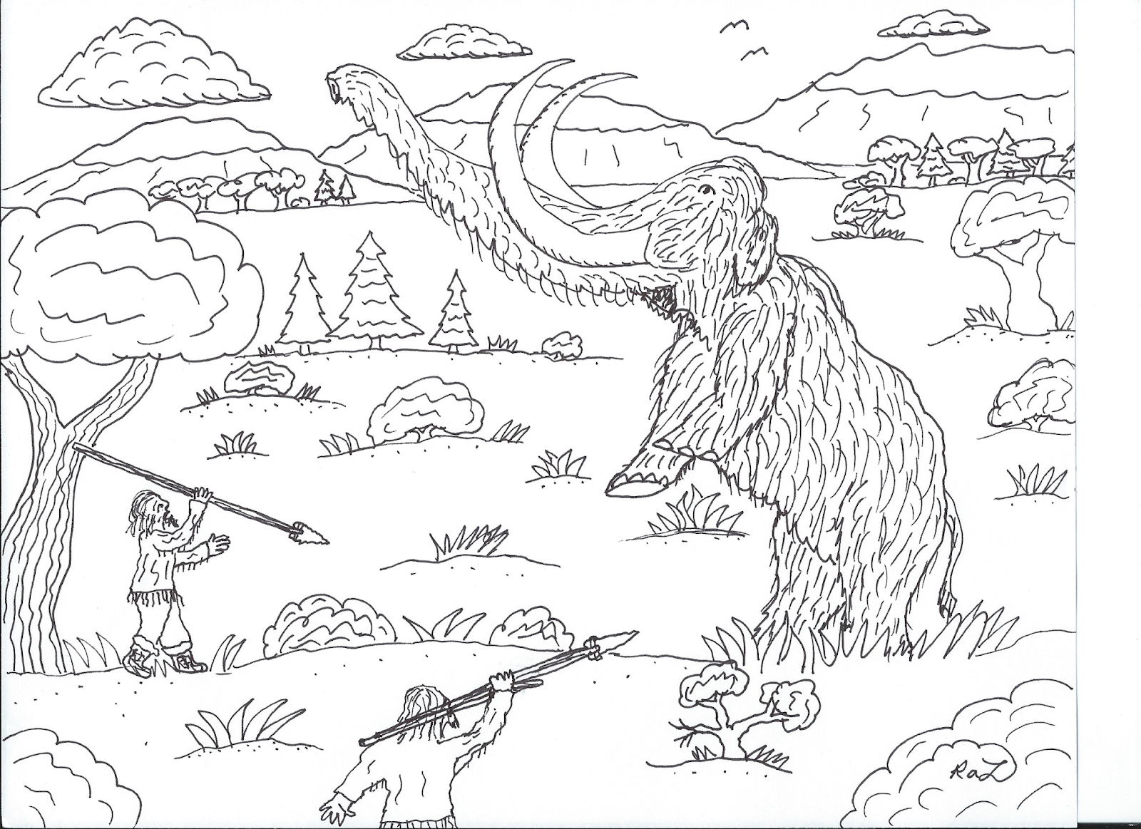 Robin S Great Coloring Pages Prehistoric Mammals With