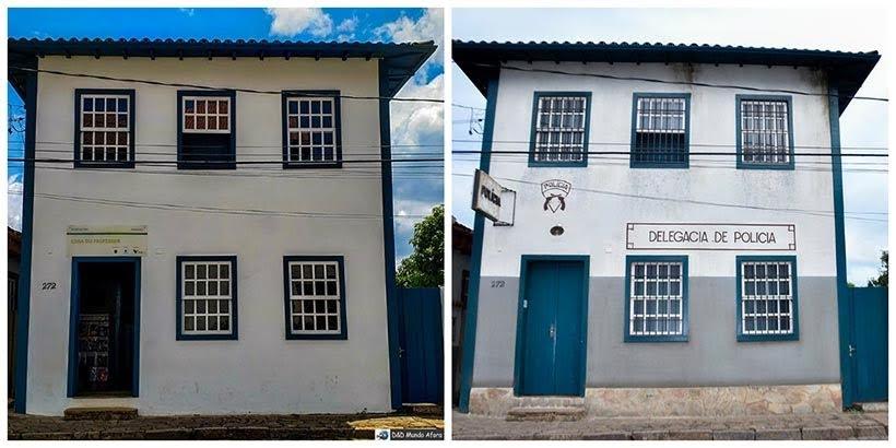 Casa do Professor de Catas Altas e delegacia de São Miguel: minissérie Se Eu Fechar os Olhos Agora. Foto do cenário: Marilane Batista/Ascom