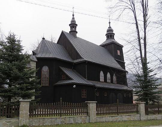 Kościół parafialny NMP Wniebowziętej w Wysowej-Zdroju.