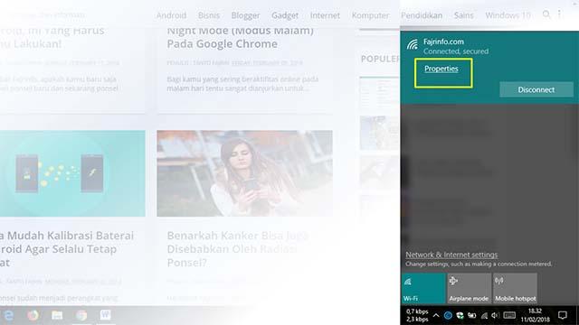 Cara Hemat Kuota Pada Windows 10 Menggunakan Wifi Tethering Android