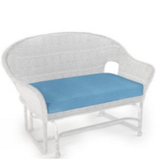 Forever Patio Rockport Wicker Patio Double Glider with Blue Sunbrella Cushions