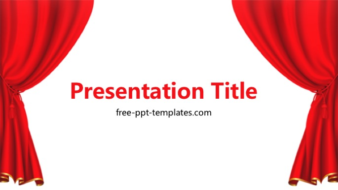 Red curtain ppt template thecheapjerseys Choice Image