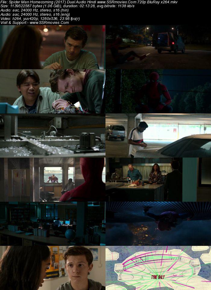 Spider Man Homecoming (2017) Dual Audio Hindi 720p BluRay x264 1.1GB Movie Download